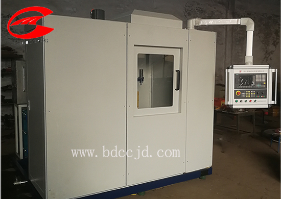 Gear case induction hardening machine